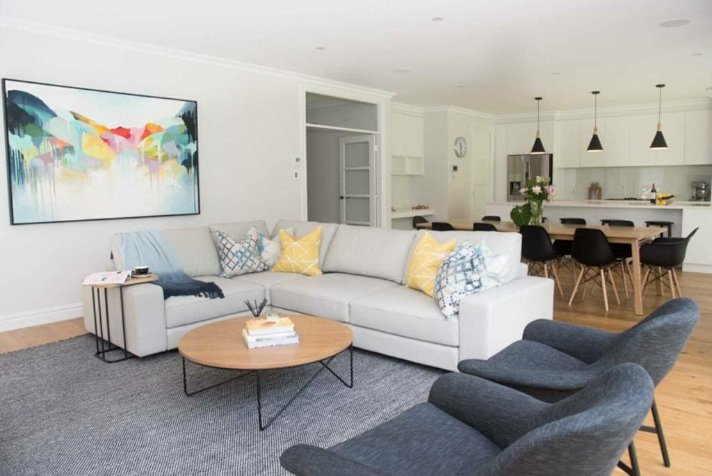 Lindfield Home - Open Plan Lounge, Dinning & Kitchen