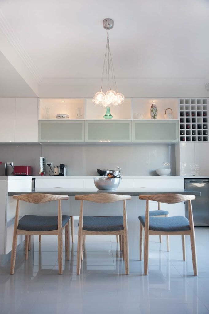 Ermington House Kitchen, Bench to Dinning Table