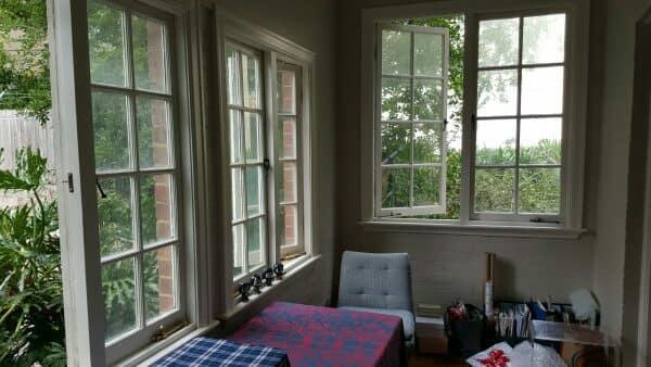 Sunroom before furnishing and decoration