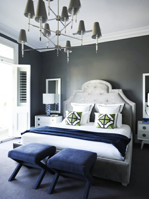 The bedhead design is the feature in this master bedroom