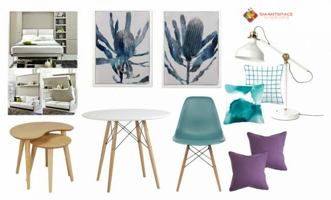 Electronic furnishing and decor design for studio