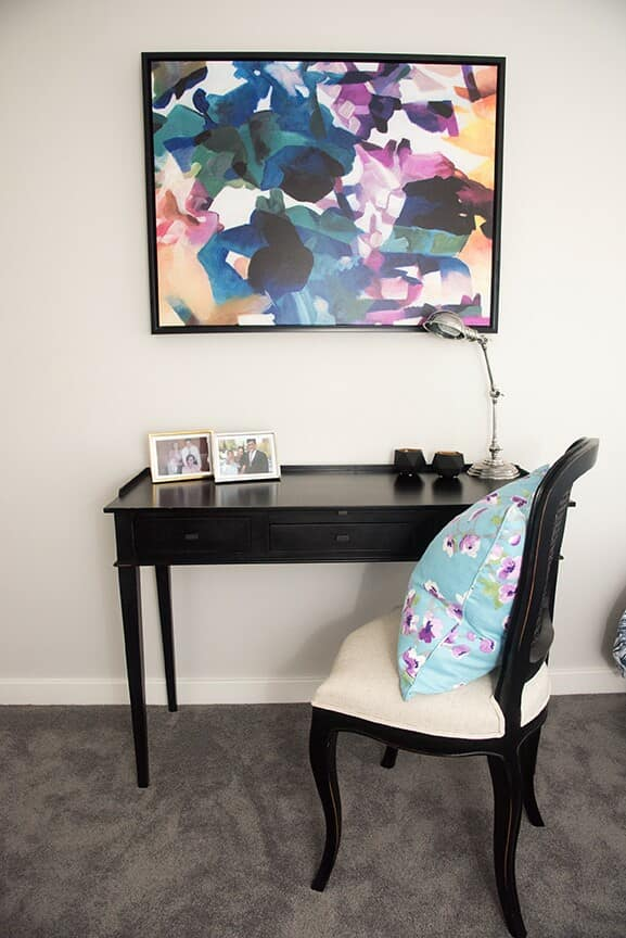Artwork above your desk can really personalise your study