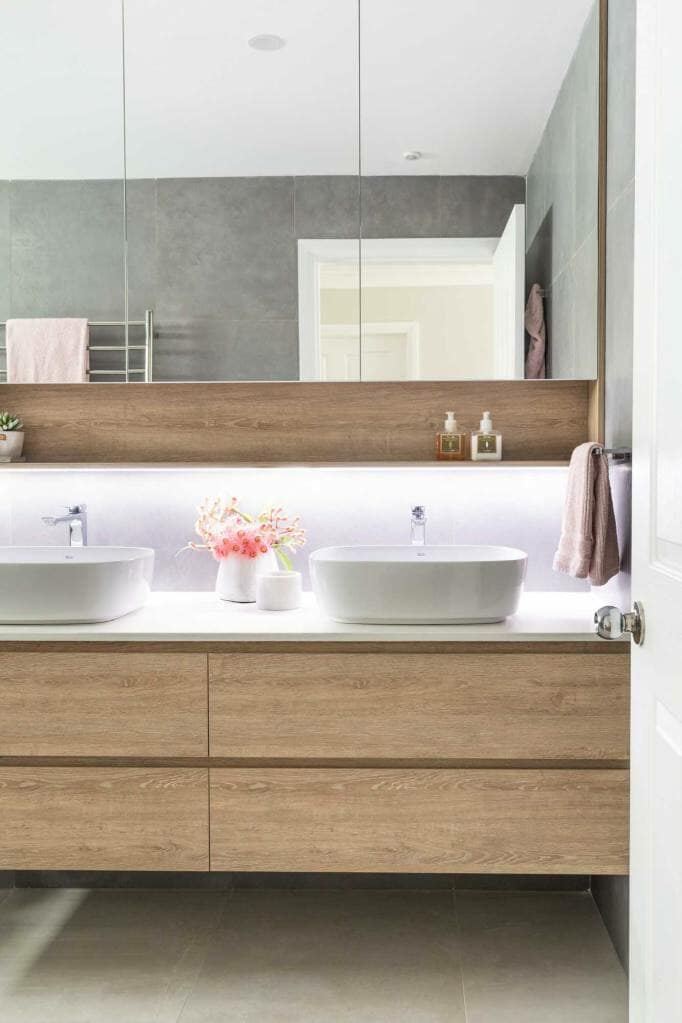 Riverview Home Family Bathroom, His & Hers Vanity